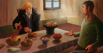 man-puts-fruits-in-coat-cook-surprised-jpg