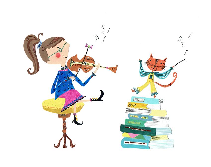L&K Pope - New Violin Girl & Cat.jpg