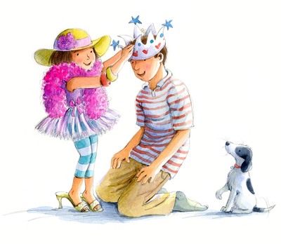 estelle-corke-girl-dad-dressing-up-puppy-greetings-card-available-jpg