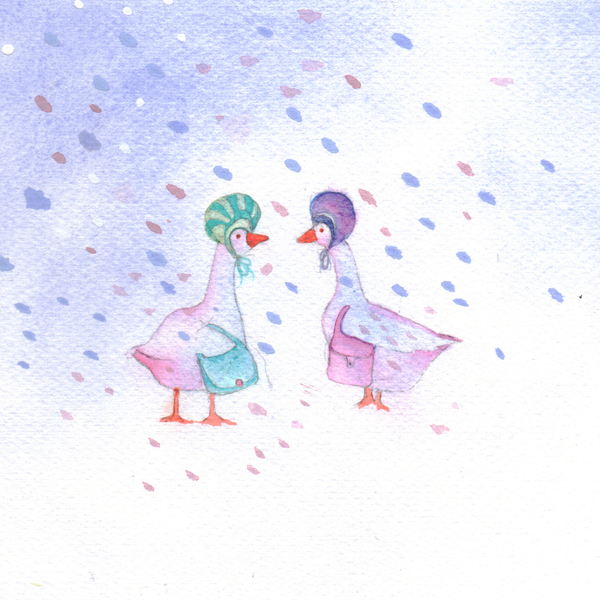 geese snow christmas mother of pearl 2.jpg