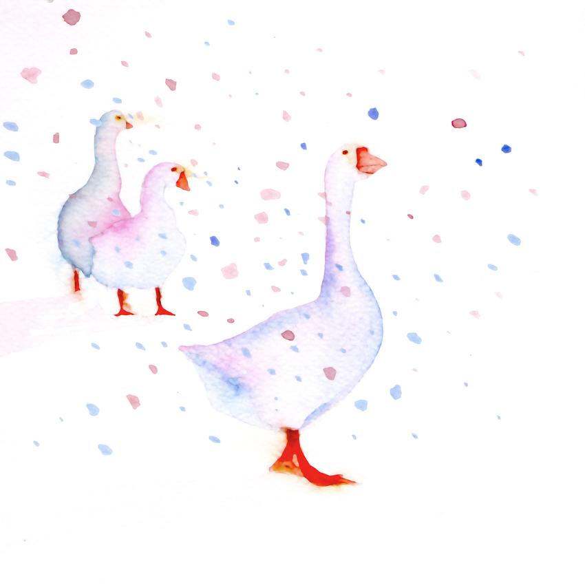 geese snow christmas mother of pearl.jpg