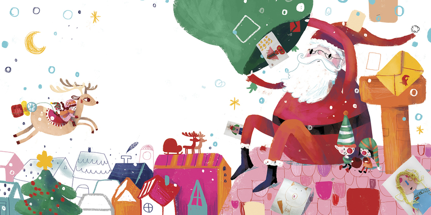 BK84935_1213Houses_Roof_Santa_Deer_Girl_Presents_Elves_Letters_Christmas.jpg