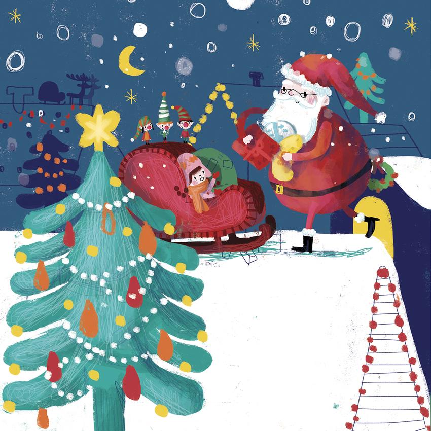 BK84935_16Santa_Sleigh_Girl_Elves_Roof_Christmas.jpg