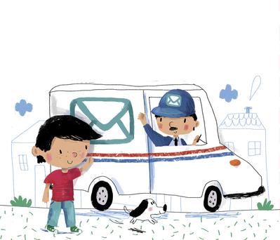 bk85079-02boy-dog-postman-car-jpg