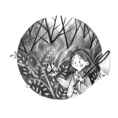 lineart-buuterfly-girl-woods-forest-plants-circle-erinbrown-lowres-jpg
