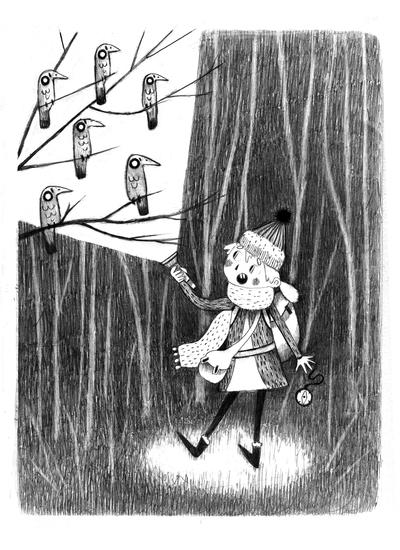 lineart-woods-scary-birds-girl-erinbrown-lowres-jpg