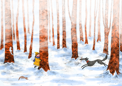 snow-forest-woods-trees-girl-dog-fetch-erinbrown-lowres-jpg