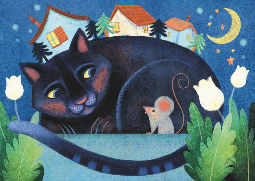 Sara Ugolotti_mother cat and the mouse_SOLD ARTIST.jpg