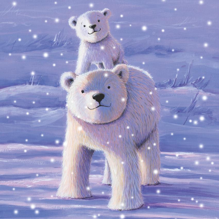 estelle corke polar bears snow christmas greetings card available.jpg