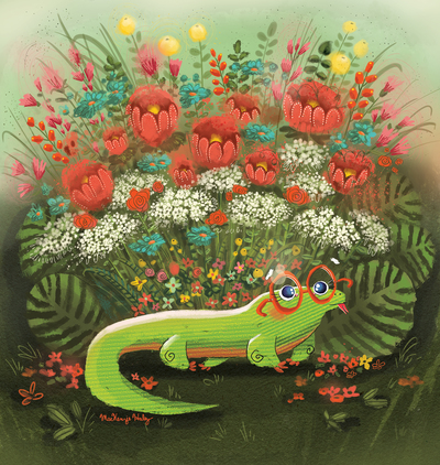lizard-glasses-flowers-jpg