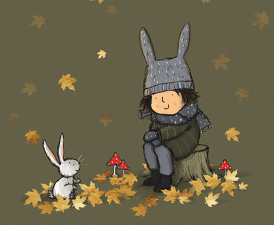 claire-keay-girl-rabbit-autumn-leaves-available-jpg