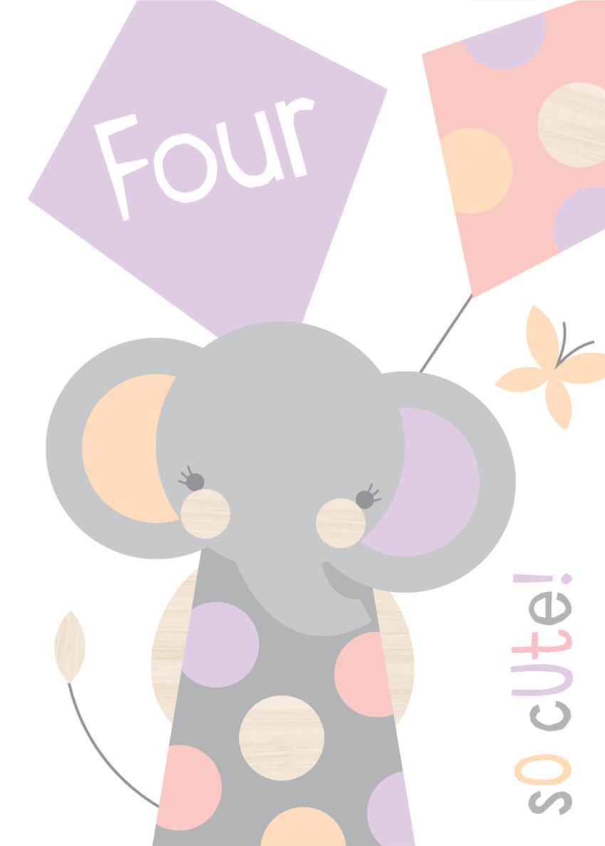 kids juvenile age birthday range wall art invitation elephant with kites.jpg
