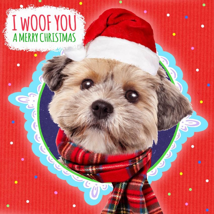 hwood dog woof xmas card.jpg