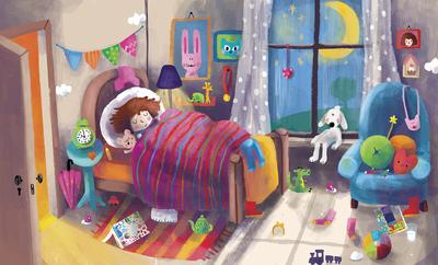 bk87596-first-100-words-10bedroom-girl-sleeping-window-toys-night-jpg