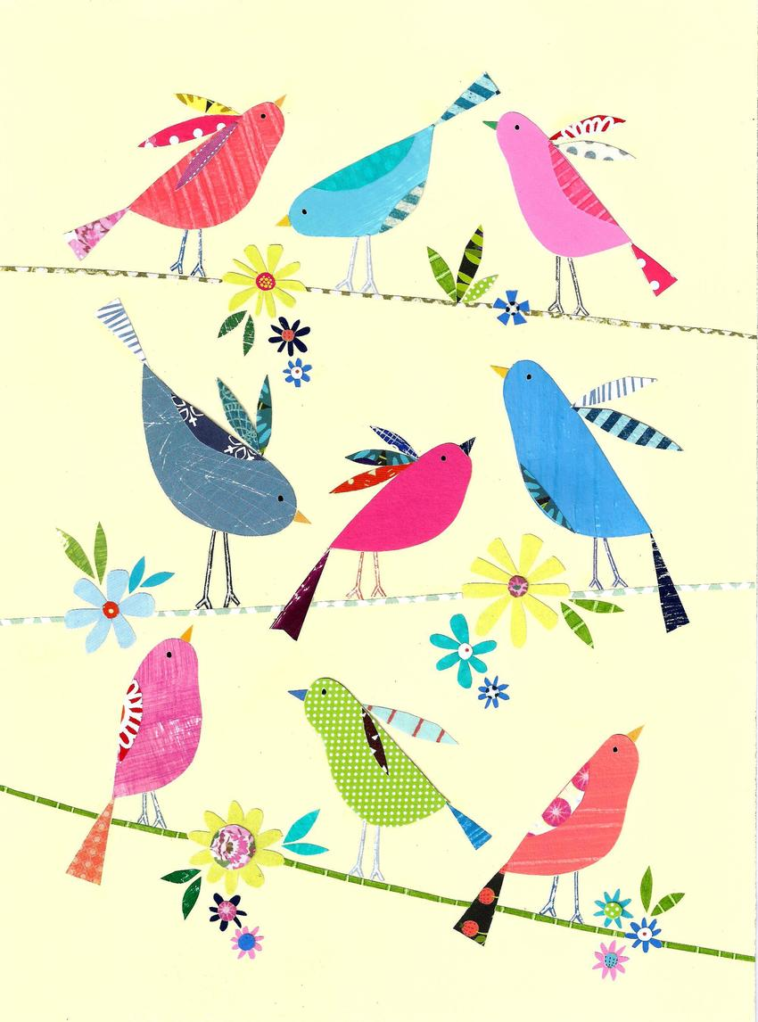 Liz and Kate Pope - Bright birds on yellow - available.jpg