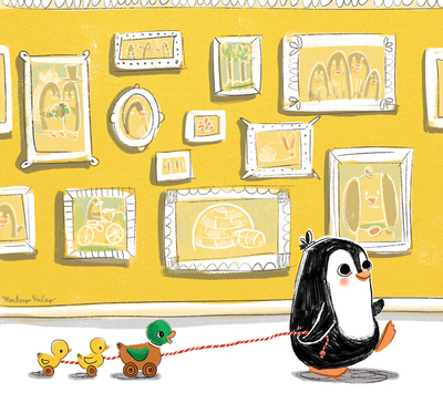 penguin-toy-ducks-picture-frames-jpg