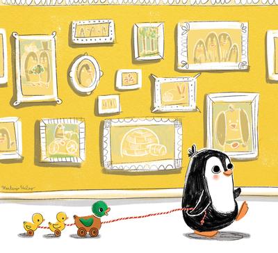 penguin-toy-ducks-picture-frames-jpg