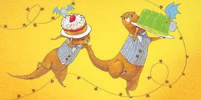 otter-smart-bowtie-waistcoat-party-food-jpg