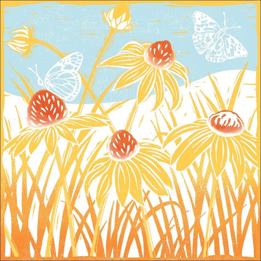 Yellow lino Daisies.jpg