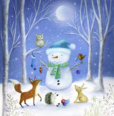 christmas-snowman-woodland-fox-robin-rabbit-owl-hedgehog-jpg