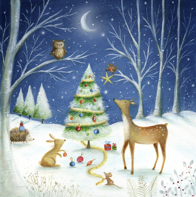 christmas-tree-snow-woodland-deer-rabbit-owl-robin-hedgehog-mouse-moon-jpg