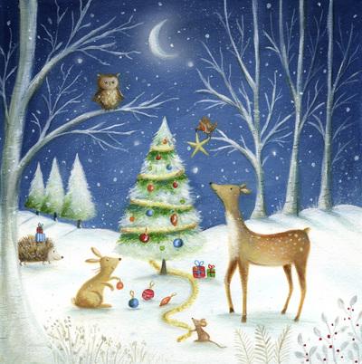 christmas-tree-snow-woodland-deer-rabbit-owl-robin-hedgehog-mouse-moon-jpg