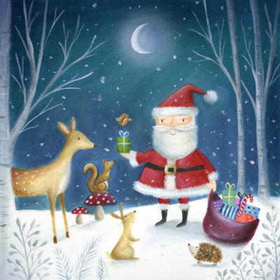 christmas-santa-reindeer-squirrel-robin-hedgehog-rabbit-presents-woodland-jpg