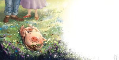 sold-plyamchuk-children-book-cartoon-animals-pig-grass-jpg