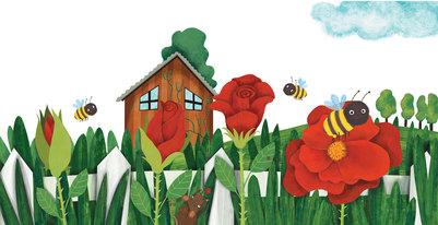 bee-roses-house-buds-garden-jpg