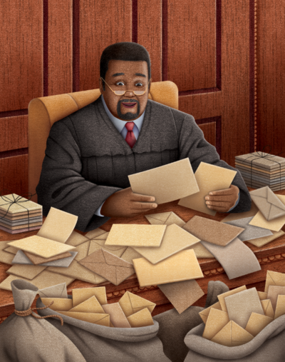 judge-and-letters-png