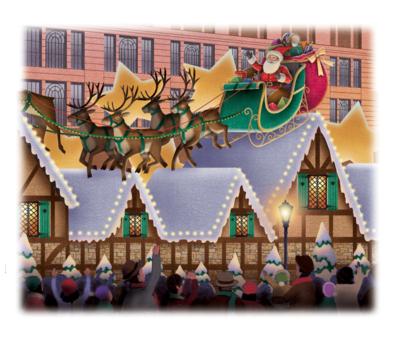 santa-and-reindeers-png