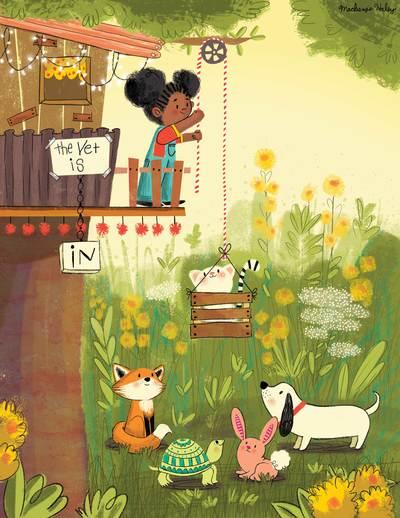 treehouse-girl-animals-flowers-jpg