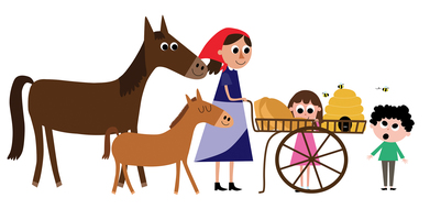 horses-bees-girl-boy-farmer-jpg