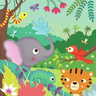 jungle-tiger-parrot-elephant-jpg