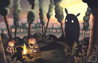 camping-kids-campfire-monster-forest-woods-bonfire-shadows-nightfall-darkness-jpg