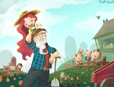 farm-kid-uncle-grandpa-animals-countryside-pigs-lambs-chickens-jpg