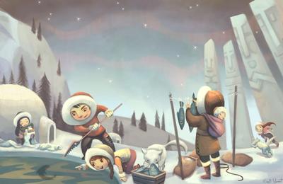 fisher-eskimo-village-pole-snow-ice-igloo-jpg