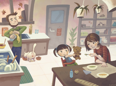 kitchen-father-mother-mum-dad-daughter-vegetables-meal-launch-dislike-toddler-jpg