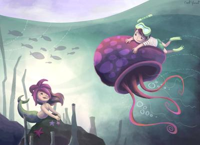 mermaid-sea-ocean-diving-beach-starfish-underwater-jpg