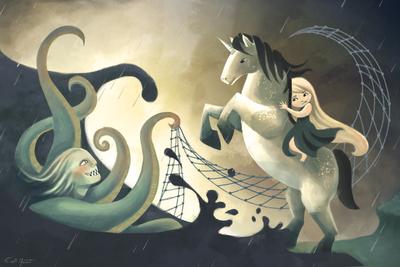unicorn-sea-horse-monster-littlegirl-adventure-snake-legend-myth-jpg