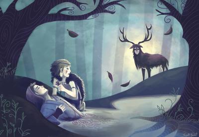 woods-fanart-princessmononoke-forest-spirit-night-jpg