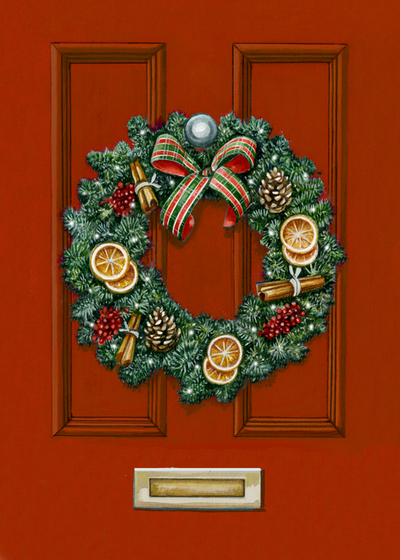christmas-wreath-on-red-door-5-x-7-fiona-osbaldstone-jpg
