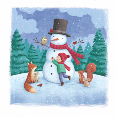 boy-and-snowman-png
