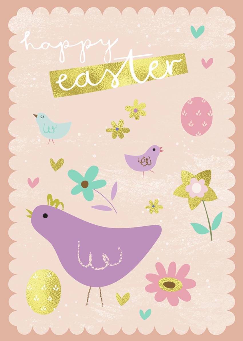 Easter - Gina Maldonado - Happy easter chicks and hen.jpg