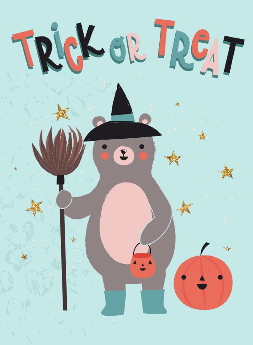 Halloween - Gina Maldonado - Trick or treat bear.jpg