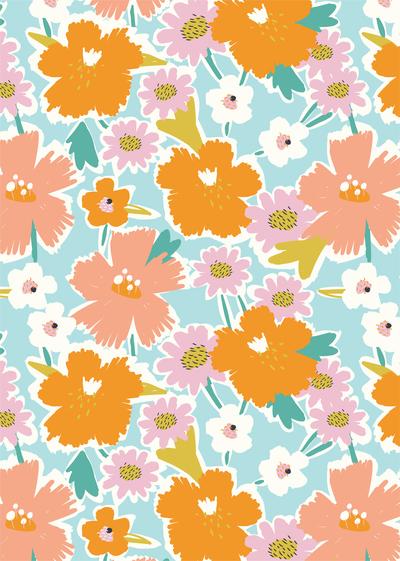 ap-festival-flowers-tropical-floral-bright-orange-pink-decorative-pattern-01-jpg