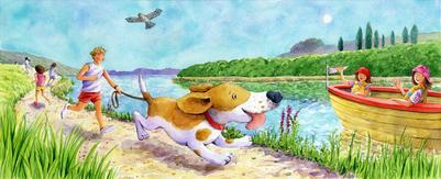 corke-dog-puppy-children-summer-boat-river-jpg