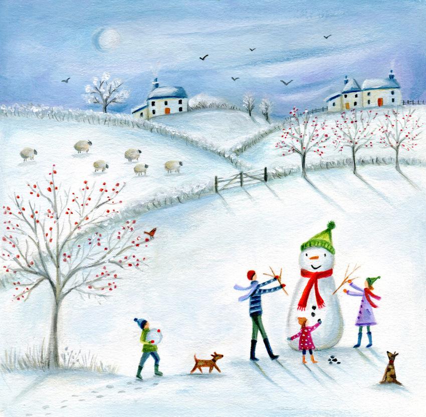 snow scene snowman sheep.jpeg