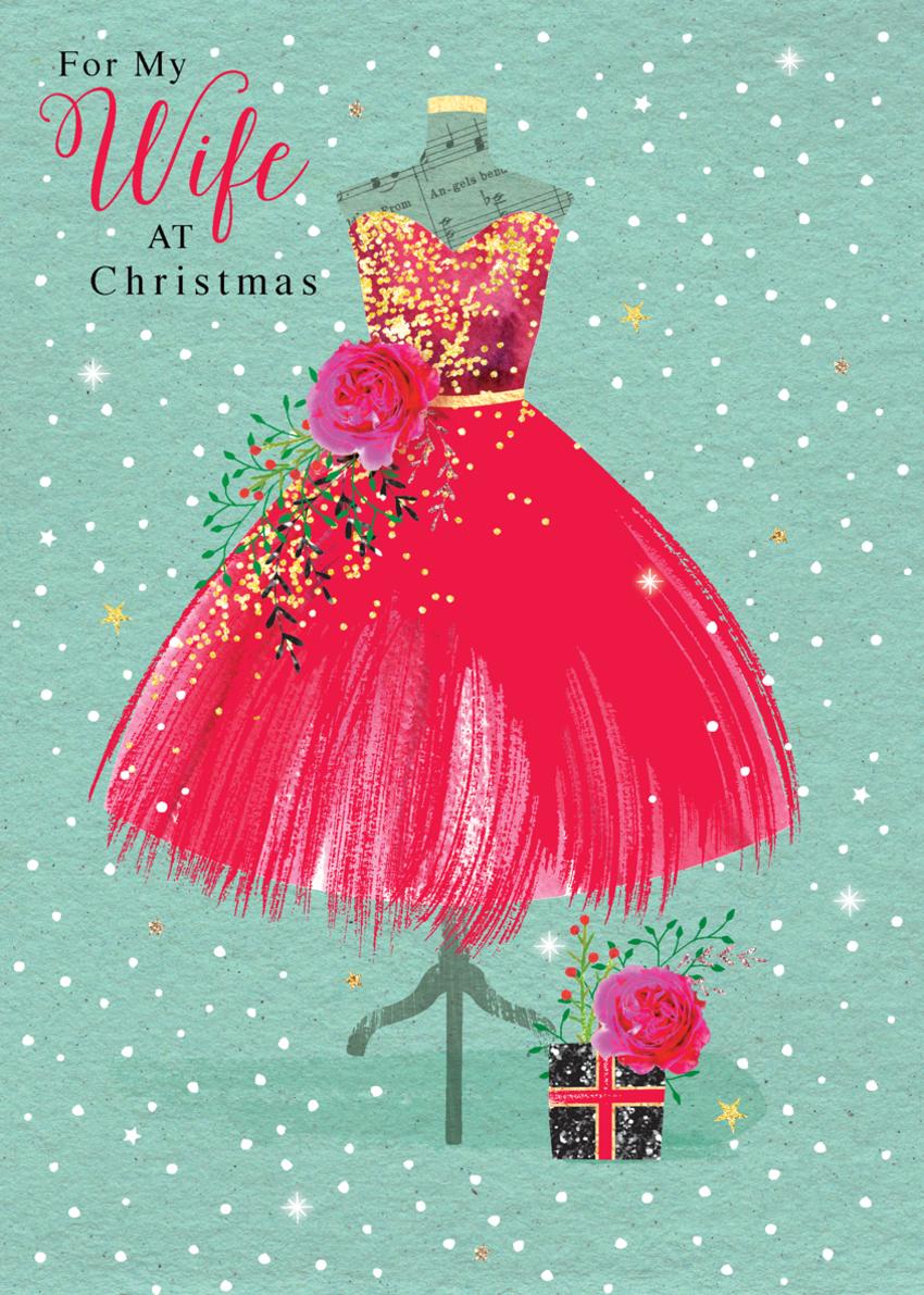 DEE_christmas wife daughter sister niece friend red dress on bust.jpg