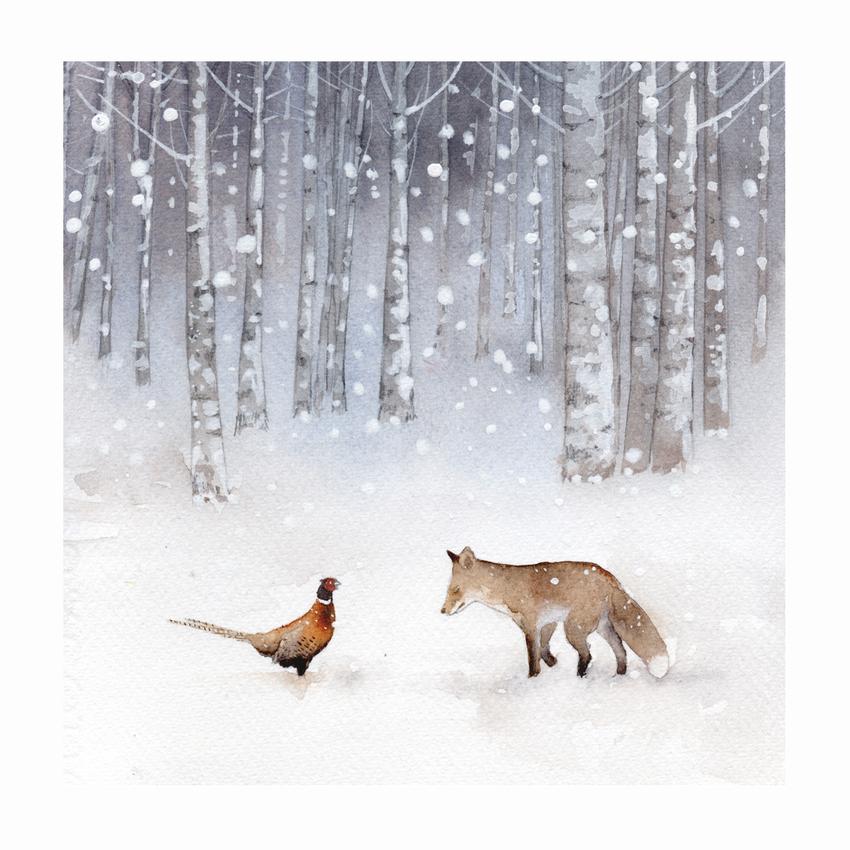 RAS_Fox Pheasant Snow Forest 200dp.jpg